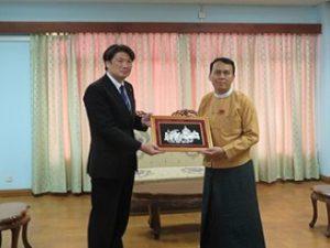 ヤンゴン地域政府首相を表敬訪問